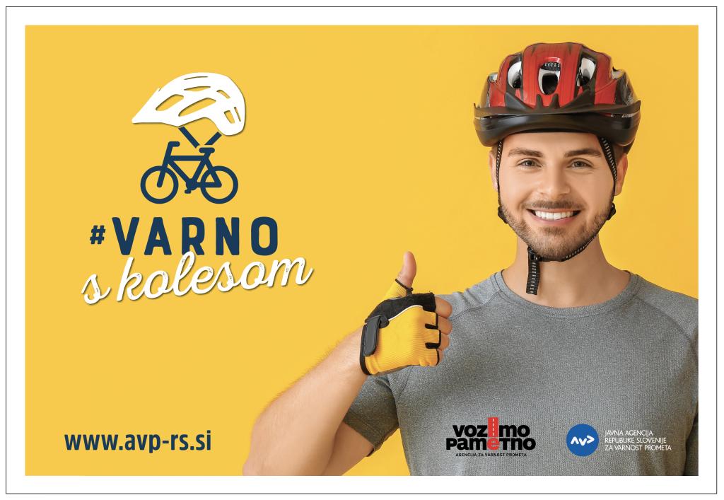 Plakat varno s kolesom p